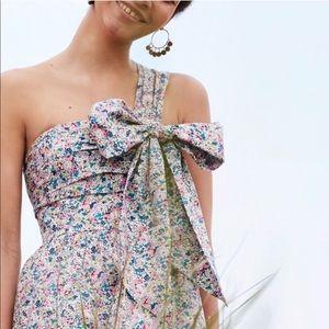 J. Crew Dresses - J.Crew one shoulder tie dress liberty print